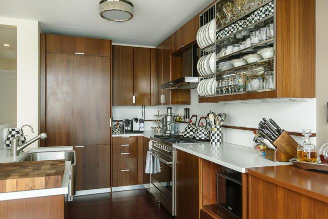 Kitchen open wood floor Riverside Boulevard New York