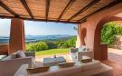 Covered terrace ocean sea view sitting area Villa  Li Liccioli Sardinia
