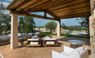 Covered terrace hot tub tiled Villa Ross Sardinia