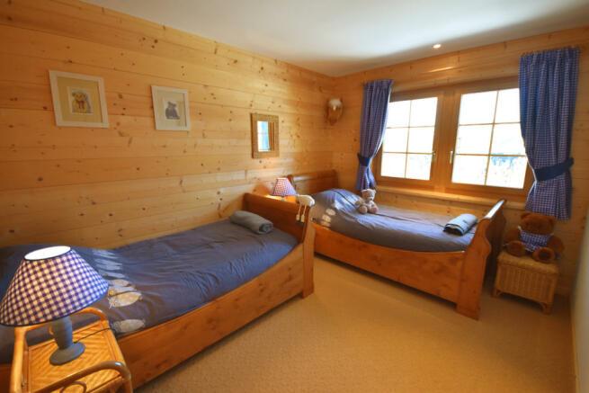 Guest bedroom twin Chalet Idée Fixe Champoussin Champéry