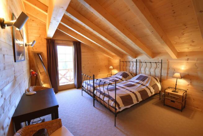 Bedroom guest twin Chalet Idée Fixe Champoussin Champéry