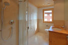 Bathroom wet room shower tiled stone walk-in Gai Torrent Penthouse Verbier