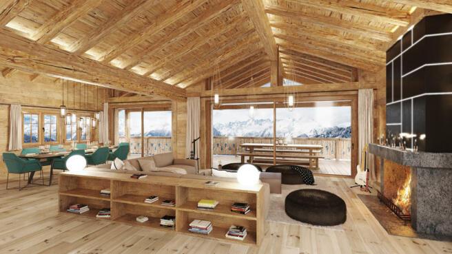 Living area - Chalet Les Esserts (Sphere Estates)