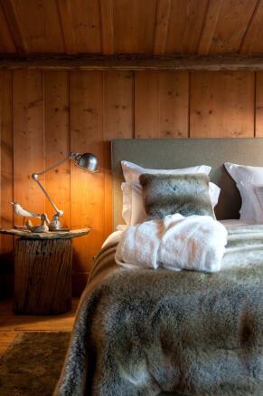 Bedroom wood floor Chalet Masson Verbier