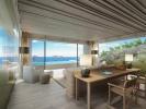 Bedroom master sea view ocean stone floor large windows Zil Pasyon Residences Seychelles
