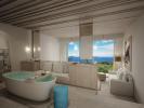 Bedroom bath tub ocean sea view Zil Pasyon Residences Seychelles