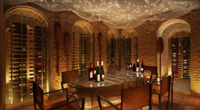 Wine cellar stone Zil Payson Residencies Seychelles