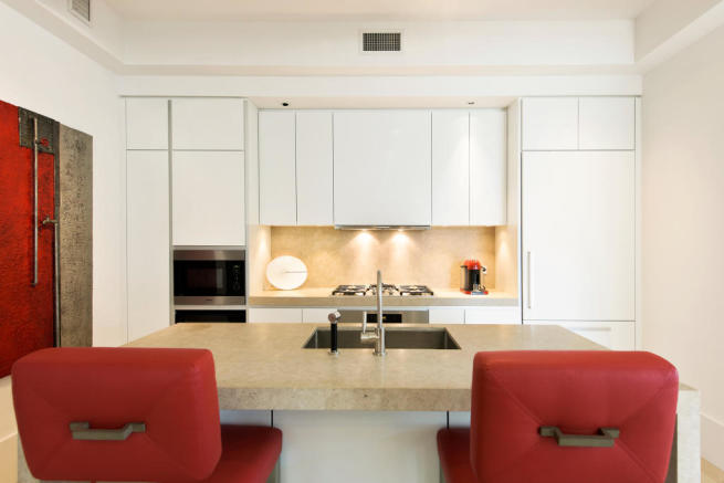 Kitchen dining room open plan breakfast bar Park Avenue South New York