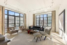 Living room wood floor balcony doors Park Avenue South New York