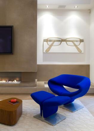 Funky interiors and fireplace stone Phalsbourg Paris