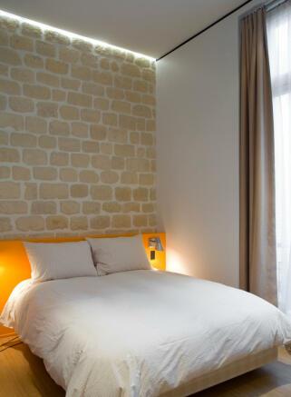 Guest bedroom wooden floor Phalsbourg Paris