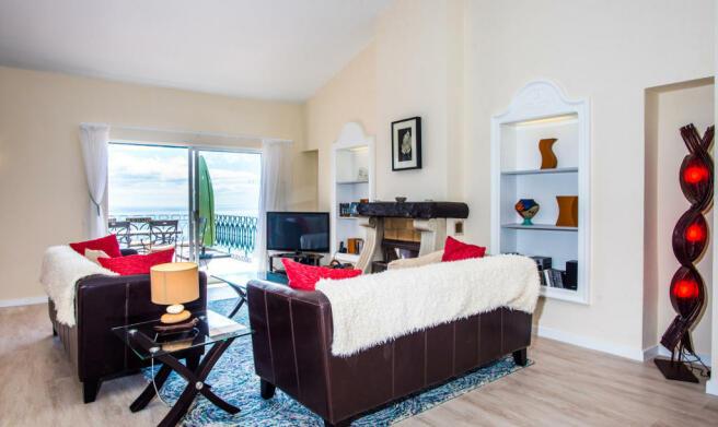 Living room dining open plan sliding doors balcony Villa Aquarela Madeira Portugal