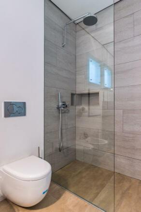 Bathroom stone shower Villa Aquarela Madeira Portugal