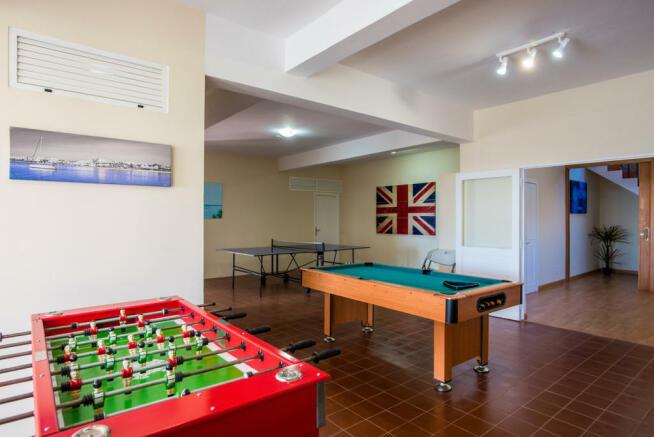Games room tiled floor large Villa Aquarela Madeira Portugal