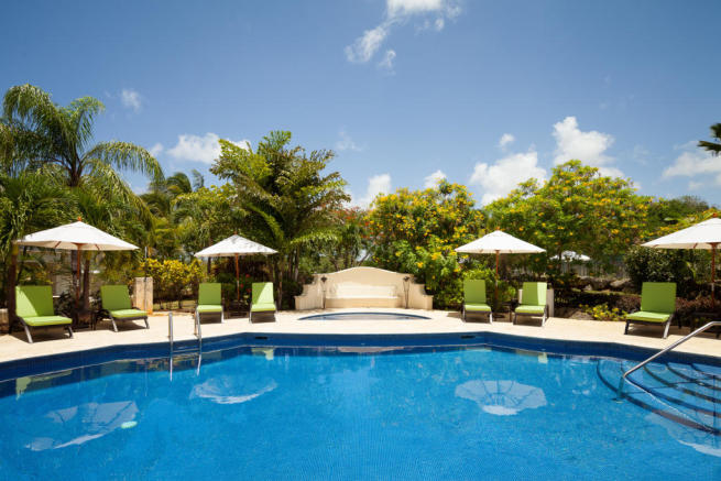 Swimming pool sun terrace Battaleys Mews St Peter Barbados