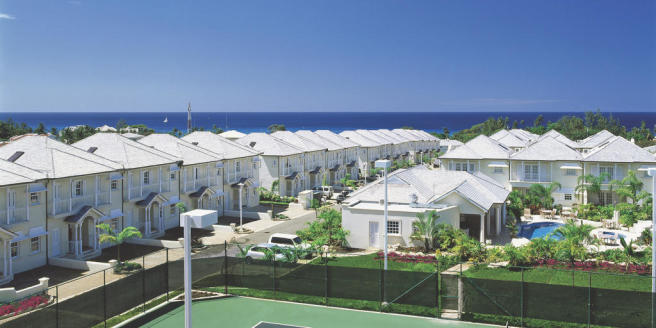 Tennis court ocean sea view villas Battaleys Mews St Peter Barbados
