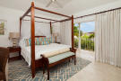 Bedroom stone floor balcony doors master Battaleys Mews St Peter Barbados
