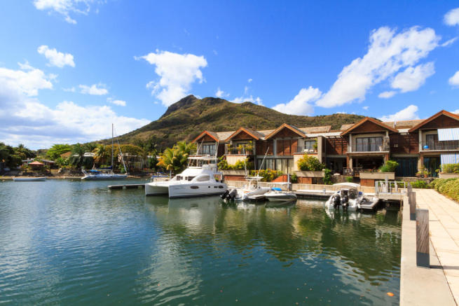 Duplexes with yacht berths at La Balise Marina in Mauritius