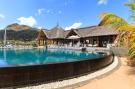 Coral Tree Restaurant and pool at La Balise Marina in Mauritius