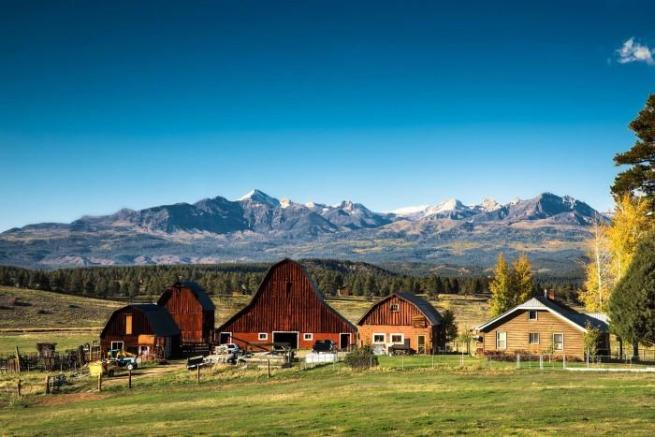 Mountains view Jackson Creek Ranch Colorado