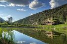Lake facade view Cascabel Ranch Colorado