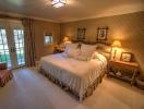 Bedroom master french doors Cascabel Ranch Colorado