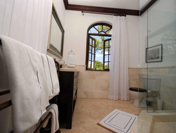 Bathroom shower marble stone floor Monkey Business Barbados