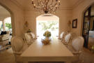Dining room chandelier marble floor Monkey Business Barbados