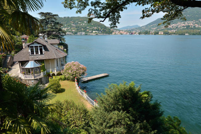 Garden view rear facade Villa on Lake Como The Lakes Italy