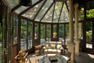 Conservatory gazebo glass french doors Villa on Lake Como The Lakes Italy