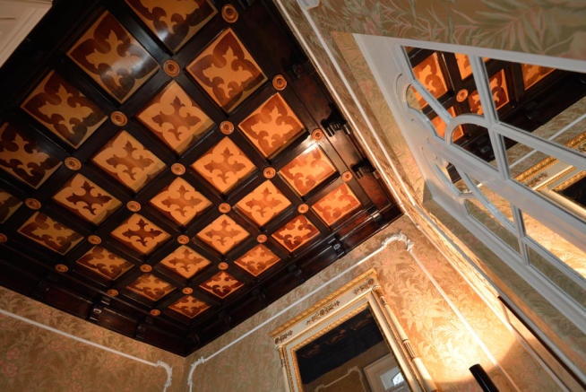 Original ceiling period features Villa on Lake Como The Lakes Italy