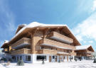 Exterior chalet residences in snow - Bicha Residences