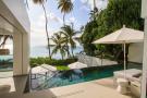 Swimming pool infinity edge ocean sea vew sun terrace Footprints Barbados