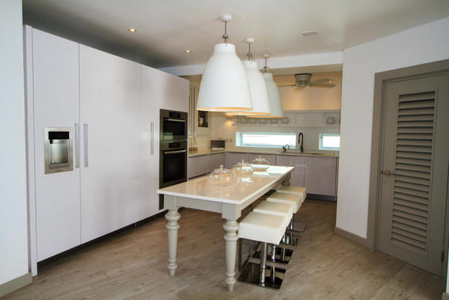 Kitchen ice machine modern wood floor Footprints Barbados