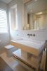 Bathroom white stone marble tile Footprints Barbados