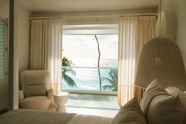 Bedroom sliding doors ocean sea view Footprints Barbados