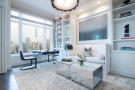 Home office city view stone floor Central Park West New York