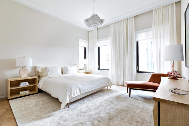 Bedroom master wood floor West 24th Street New York