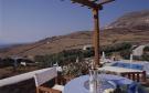 Outdoor dining area view Ftelia Mykonos