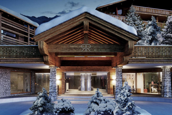 Entrance Rosalp Residences Verbier