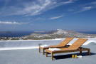 Sun terrace view ocean sea Villa Fabrica Santorini