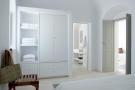 Bedroom bathroom ensuite stone floor Villa Fabrica Santorini