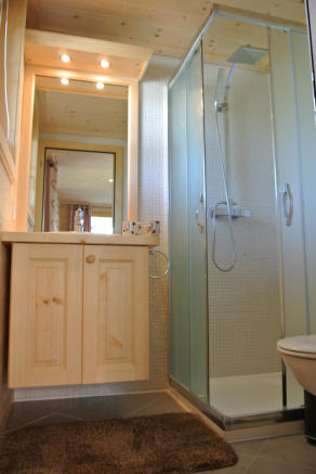 Shower room at Chalet Alina