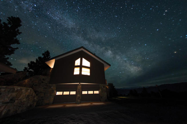 Stars over farm home