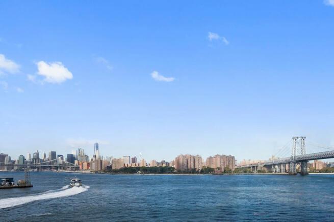 Water view near 440 Kent Avenue in Brooklyn, New York