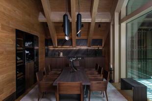 Dining room bar Andermatt Chedi Residences