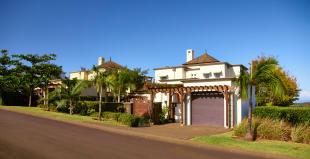 Entrance garage facade Villas Valriche Mauritius