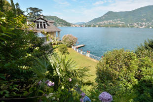 Garden view rear facade Villa on Lake Como The Lakes Italy