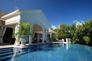 Swimming pool covered terrace Monkey Business Barbados
