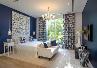 Bedroom wooden floor chandelier Ashjar Al Barari Dubai